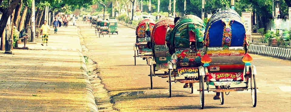 Rickshaws, Dhaka